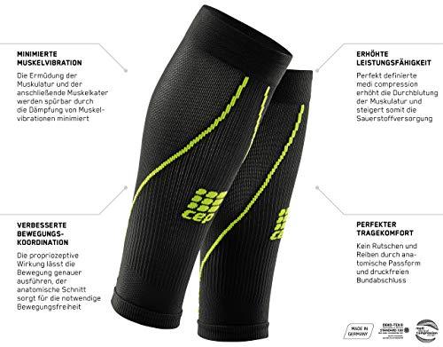 CEP - Calf Sleeve 2.0 | Beinstulpen für Damen in blau/grün | Größe III | Beinlinge für exakte Wadenkompression