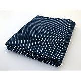 indigo blue cotton fabric block print 5 meter dress making fabric dot printed