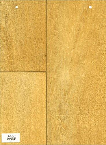 1704-Wood effect Vintage Oak beige Anti Slip Vinyl Flooring Home Office Kitchen Bathroom High Quality Lino Modern Design 2M Wide (Simply Oak) 2X6