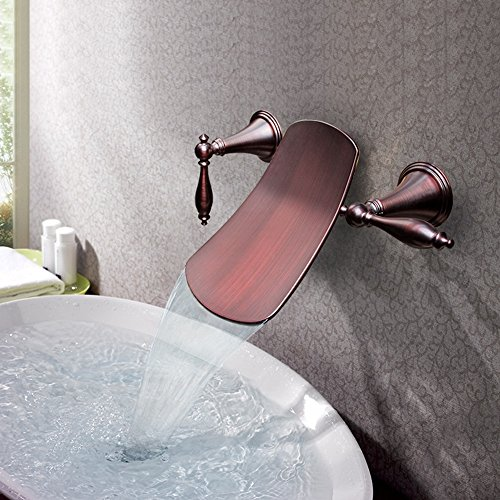 XIAOQI Into the wall concealed basin mixer antique retro waterfall basin three-piece faucet
