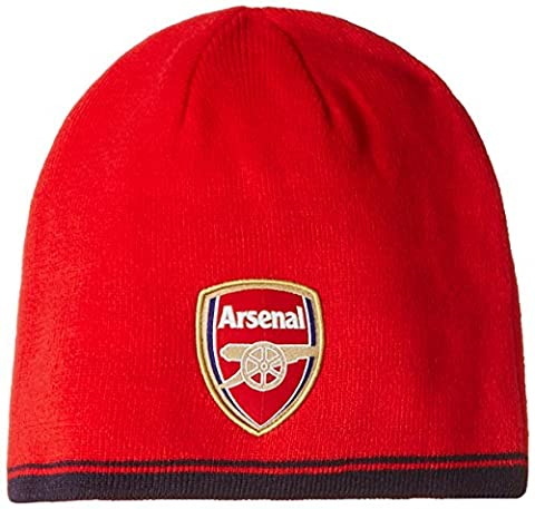 Puma Unisex Red Arsenal Football Club Fans Supporters Reversible Beanie Cap Hat Red Stadium Accessory