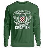 Hochwertiger Unisex Pullover - Kroatien Shirt/Ich Brauche Keine Therapie Ich Muss Nur Nach Kroatien/Hrvatska