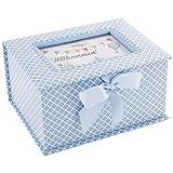 """DKDS Collection Baby Erinnerungsbox """"Prinz"""", Geschenk zur Geburt oder Taufe, hellblau"""