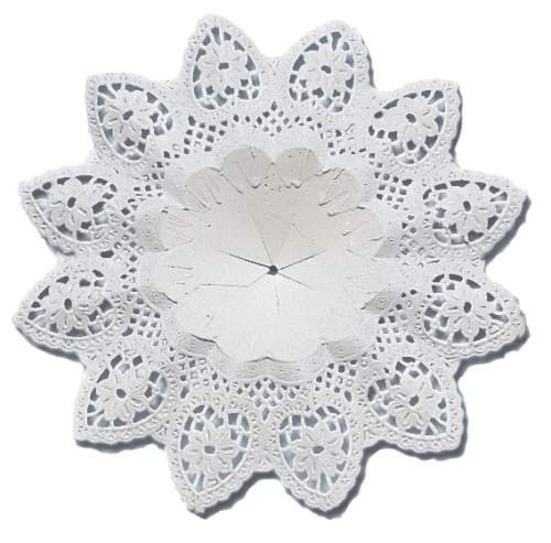 Biedermeiermanschette - innen Ø 7 cm, weiß, 3 Stück