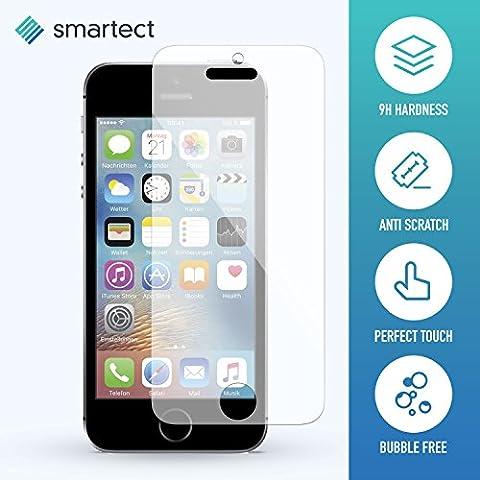 Panzerglas Folie für iPhone SE / 5s / 5 / 5c • Panzerfolie mit 9H Härte • Blasenfreie Montage der Folie • Ultra-Dünn (0.3 mm) • Gerundete Kanten (2.5D) • Displayschutzfolie mit