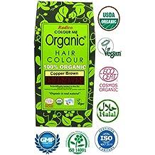 Radico Colour Me Organic Pflanzenhaarfarbe Kupfer-Braun (bio, vegan, Naturkosmetik) kupferbraun