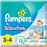 Pampers Splashers, Size 3-4, 6-12 kg, Carry Pack, 12 Swim Diapers