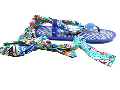 Colors of california Sandales Flip Flops Femme Bleu Caoutchouc (41 EU)