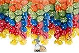 hegro-grosshandel Set Bundle mit 120 Kunststoff Ostereiern 6cm und Dekoration
