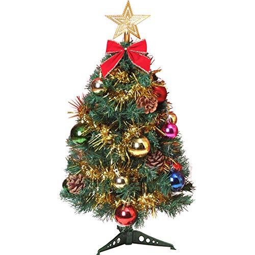 ZXLIFE@ Tabletop Mini-Weihnachtsbaum Mit Ornamenten, Mit Star Treetop-Weihnachtsplatterresistenten Ornamenten, DIY Weihnachtsdekorationen,60Cm (Tabletop-zug-set)
