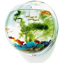 Mirror Back Acrylic Fish Bowl Wall Hanging Aquarium Tank Aquatic Pet Supplies Pet Products Wall Mount Fish Tank (32.5cm)