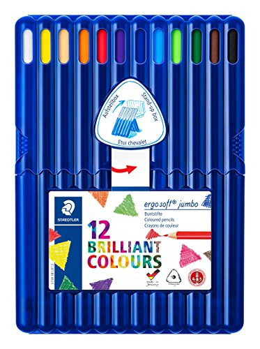 Staedtler 158 SB12 - ergo soft jumbo Buntstifte, 12 brillanten Farben