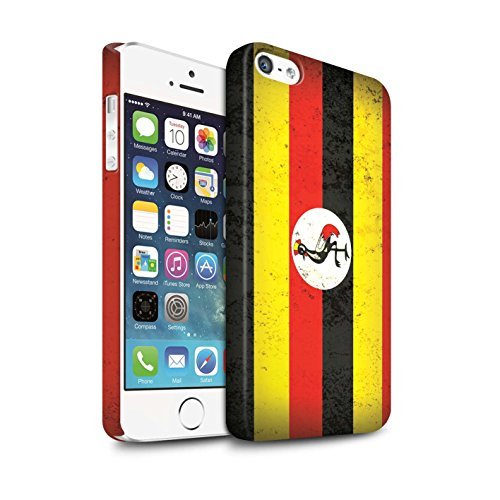 STUFF4 Matte Snap-On Hülle / Case für Apple iPhone 7 / Ägypten/Ägypter Muster / Afrika Flagge Kollektion Uganda/Ugandisch