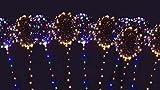 Unbekannt 10-er Set LED Ballon warmweiß/bunt 30LED - leuchtende LED Luftballons als Dekoration für Hochzeit, Party, Geburtstag, Romantik, Gartenfeste