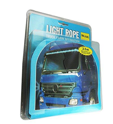 LKW Leuchten Lichtschlauch Lichterschlauch 24 Volt 2,5 m BLAU