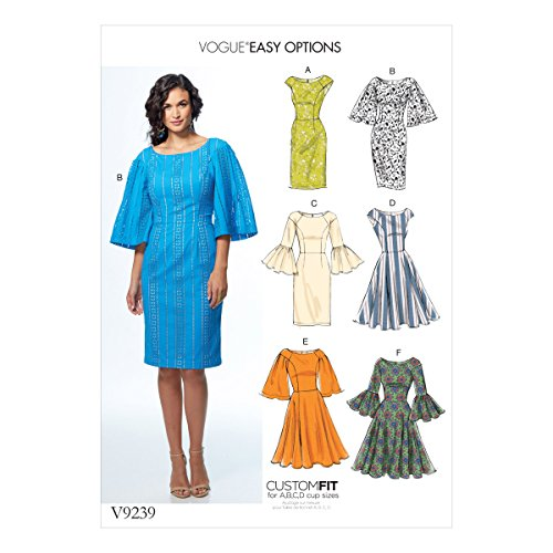 Vogue Patterns Oeillets Tissu Robes, Multicolore, Tailles 14-22
