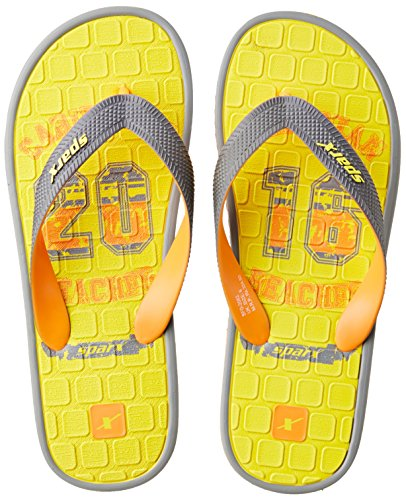 Sparx Men's Yellow and Grey Flip Flops Thong Sandals - 10 UK/India (44.67 EU)(SF2062GYLGY)  available at amazon for Rs.227