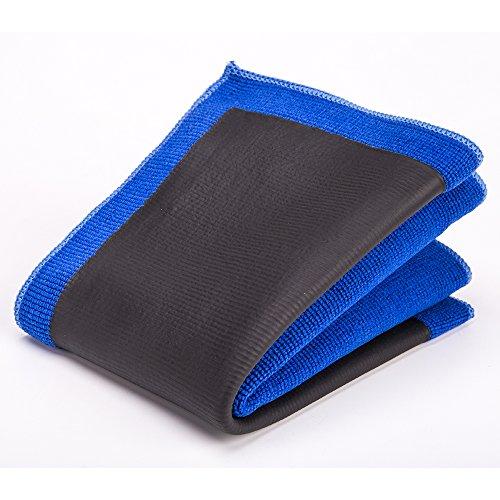 FMS Clay Tuch Mikrofasertücher 30 x 30 cm Spezial Reinigungstuch zur Lackpflege, Lackreinigung, Autopflege, Alternative zu jeder Lackknete, wiederverwendbar (30*30cm-Blau)
