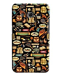Omnam Food Pattern Printed Designer Back Cover Case For Samsung Galaxy Core 2