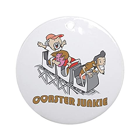 CafePress - Roller Coaster Junkie Ornament (Round) - Round Holiday Christmas Ornament