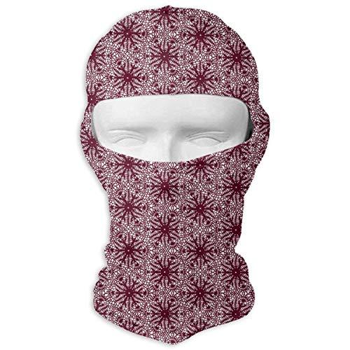Saffron Snowflakes Full Face Mask Sun Dust Wind Protection Durable Breathable Seamless Face Mask Bandana Fashion5