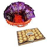 Chocolate Basket Full Of Love With 24 Pcs Ferrero Rocher