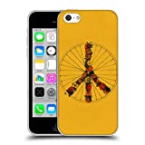 Offizielle Florent Bodart Frieden Gelb Fahrräder Soft Gel Hülle für Apple iPhone 5c