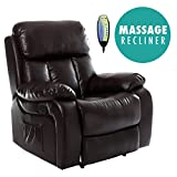 More4Homes (tm) CHESTER HEATED MASSAGE RECLINER BONDED LEATHER CHAIR SOFA LOUNGE GAMING HOME
