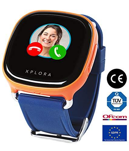 XPLORA 1 - Smartwatch for Children (SIM-FREE), GPS, Phone Calls, Text Messages, Emojis, Voice Messages, School Mode, Safe-Zones, SOS, Calendar (ORANGE)