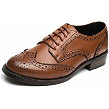 9ee4387b9808f SimpleC Las mujeres perforaron Wingtip Leather Oxfords