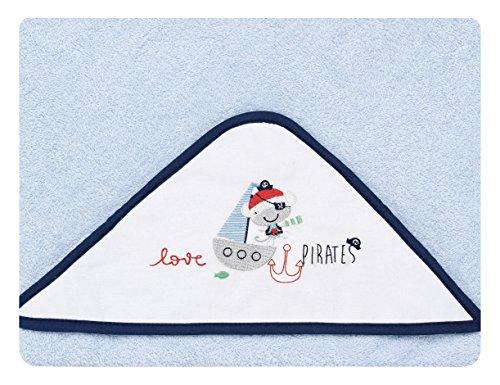 pirulos 00713313–maxicapa, Design Pirate, 100x 100cm, weiß und blau
