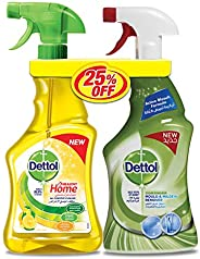 Dettol Lemon Healthy Home All Purpose Cleaner Trigger 500 ml + Mould & Mildew Remover, 500 ml Twin