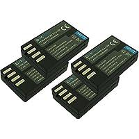 4 x Dot.Foto remplacement Pentax D-LI109 batterie - 7,4v / 1050mAh - garantie de 2 ans - Pentax K-30, K-50, K-70, K-500, K-r, K-S1, K-S2