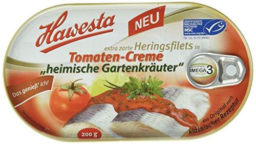 Hawesta Heringsfilets Tomatencreme Gartenkräutern, 10er Pack (10 x 200 g)