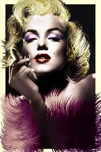 Grande Marilyn Monroe Art Deco plumes papier Poster Dimensions 91.5x 61cm environ