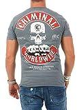 Mafia & Crime Herren T-Shirt CRIMINAL 182 C (4XL, grau)