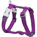 Red Dingo Plain Purple Dog Harness 15mm x (Neck: 30-48cm / Body 36-54cm)