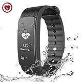 CHEREEKI Fitness Tracker Fitness Armbänder mit Pulsmesser Smart Bracelet Sport Armband...