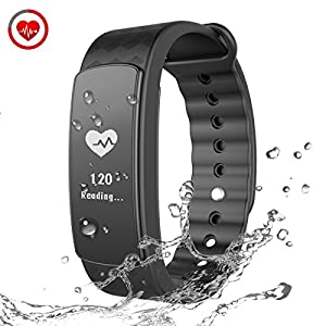 CHEREEKI Smart Bracelet Heart Rate Smart Band Fitness Tracker with Touch Screen Activity Tracker Sleep Monitor Sports Bracelet Wristband Smartwatch for Android and iPhone iOS Smartphone