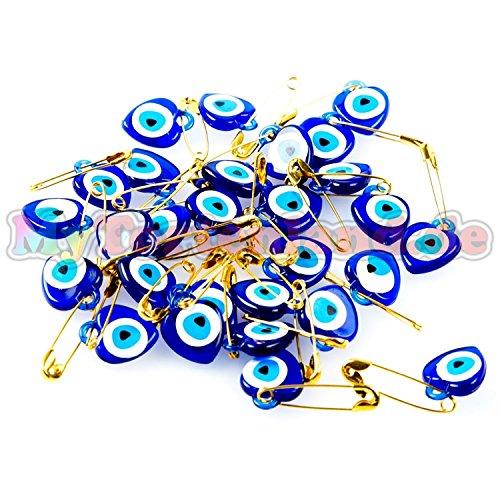 Mytortenland Schutz vor Böser Blicken Blau (Nazar Amulett) Anhänger 50 Stück