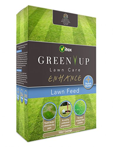 Vitax Green Up Lawn Care Améliorer Feed Lawn 100m²