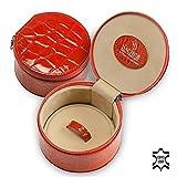 SACHER Schmuckbox Betsy / rot, Leder / handmade in Germany