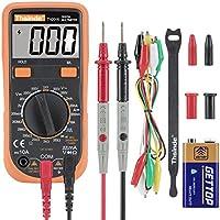 Digital Multimeter Krokodilklemme Voltmeter Amperemeter Ohmmeter - AC / DC Spannung, DC Strom, Widerstand, Dioden, Transistor, Akustischer Durchgangsprüfer mit LCD Hintergrundbeleuchtung