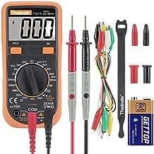 Zhenchenggao Digital Multimeter Krokodilklemme Voltmeter Amperemeter Ohmmeter - AC / DC Spannung, DC Strom, Widerstand, Dioden, Transistor, Akustischer Durchgangsprüfer mit LCD Hintergrundbeleuchtung