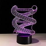 Zyyymx Touch Fernbedienung Schalter 3D Lampe Veilleuse Enfant 3D Leuchten Neuheit Usb Led Nachtlicht Diy Fidget Spinner Leuchten