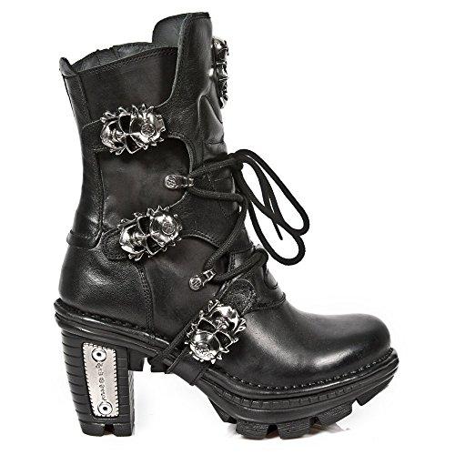 New Rock M Neotr026 S1, Bottes Motardes Femme Black