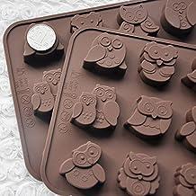 12 búhos silicona decoración de pasteles dulces/galletas/bombones/jabón ...