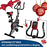 SPINNING BIKE SPIN FIT INDOOR BIKE BICI CARDIO CARDIOFREQUENZIMENTRO DISPLAY LCD CICLO AEROBICO HOME FITNESS