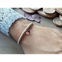 Elastisches Silber Kugelarmband 925