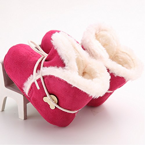 Lovely Baby Schuhe warme Winter Erste Wanderer Kleinkind -Schuhe (L: 12 ~ 18 Monate, Beige) Rosa